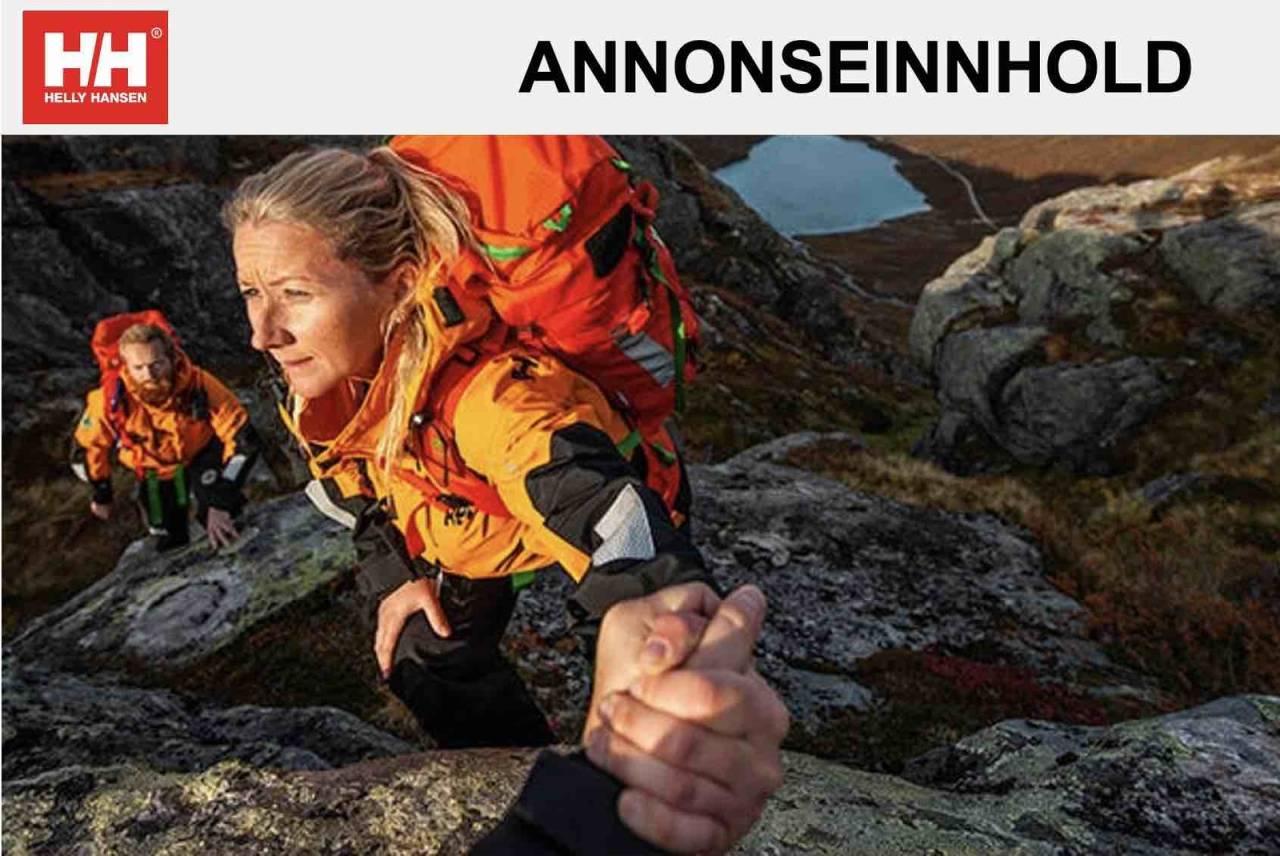 Inger Lise er en av 2000 frivillige i redningsgruppene til Norsk Folkehjelp. Foto: Helly Hansen