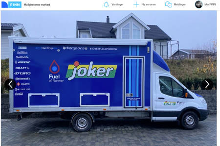 Joker fuel of norway servicebil