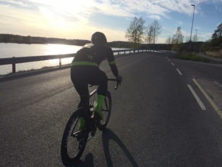 LANGFREDAG: André nøt solen på en langtur sist fredag.