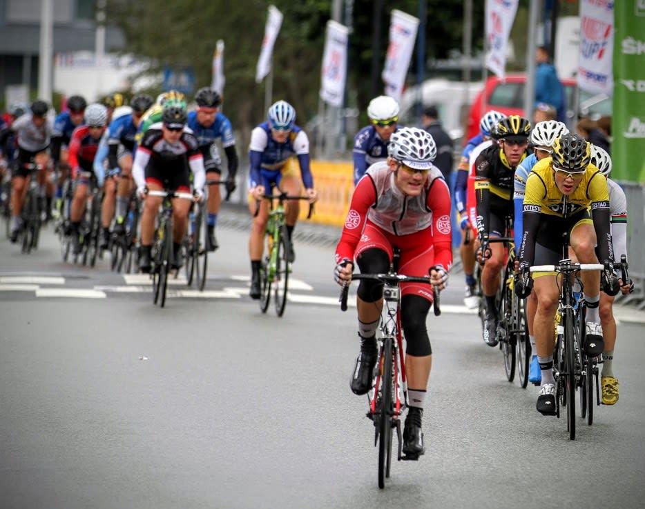 BRUDDVILLIG: Dan Erik Hansen under et av sine utallige bruddforsøk under Norgescupen i Bergen. Foto: Hans-Kristian Jacobsen