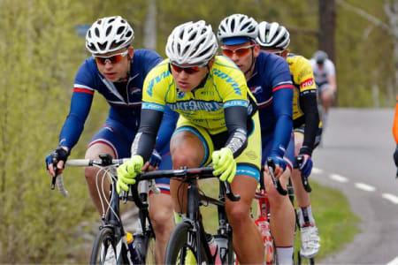 NORDMARKA RUNDT: André tok sin første seier for året i pulje to i Nordmarka Rundt, mye takket være gutta i Hasle-Løren.