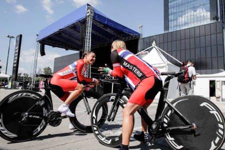 TILBAKE I VM: Verken Kristin Falck (til venstre) eller Trine Hansen deltok på VM i fjor, men er tilbake i år. Foto: UCI