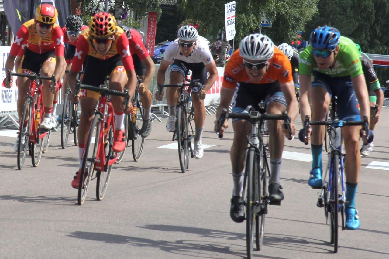 LEDER NORGESCUPEN: Etter dagens spurtseier og helgas innsats i Tour de Hallingdal, leder Kristian Aasvold sammenlagt i Norgescupen når ett ritt gjenstår. Foto: Ingeborg Scheve