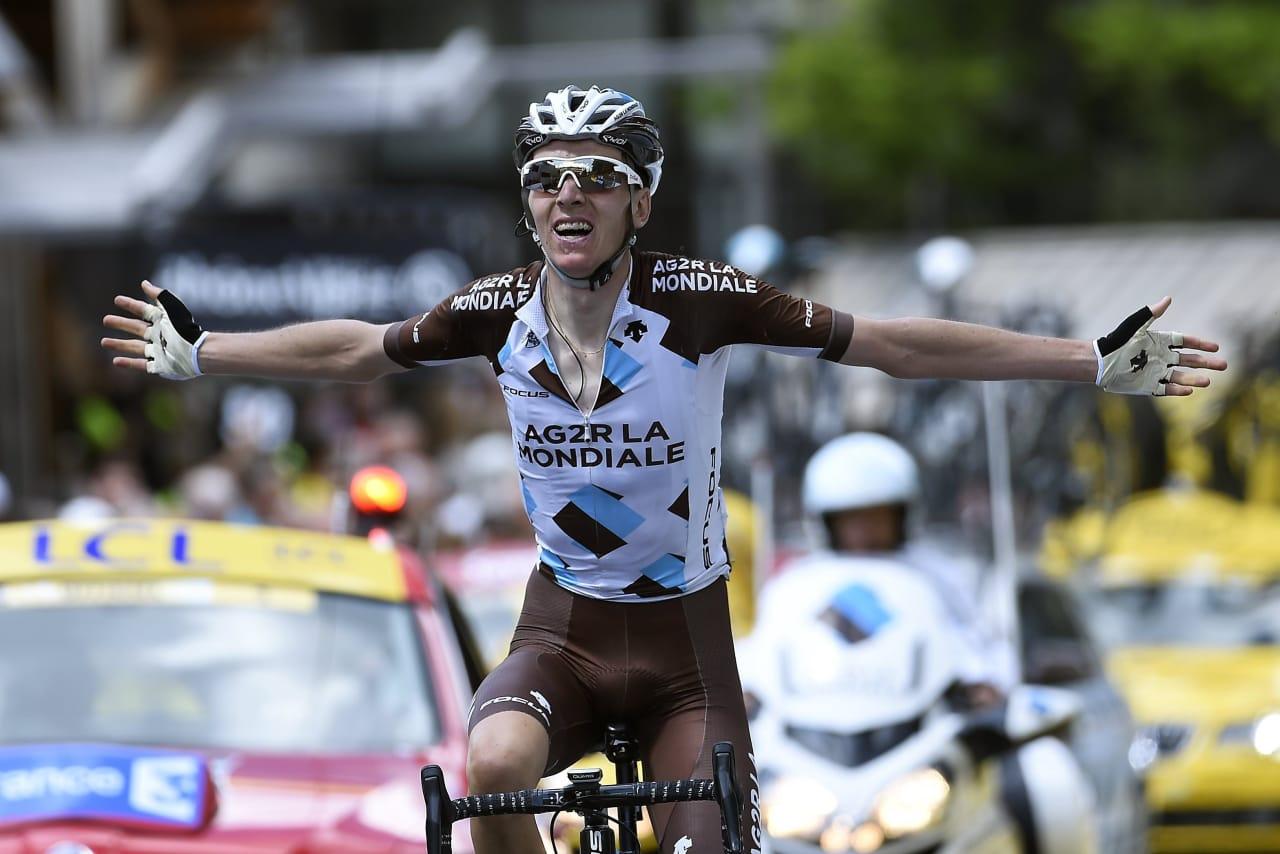 FRANSK GULLGUTT: Romain Bardet tok sin første etappeseier i Tour de France. Foto: Cor Vos.