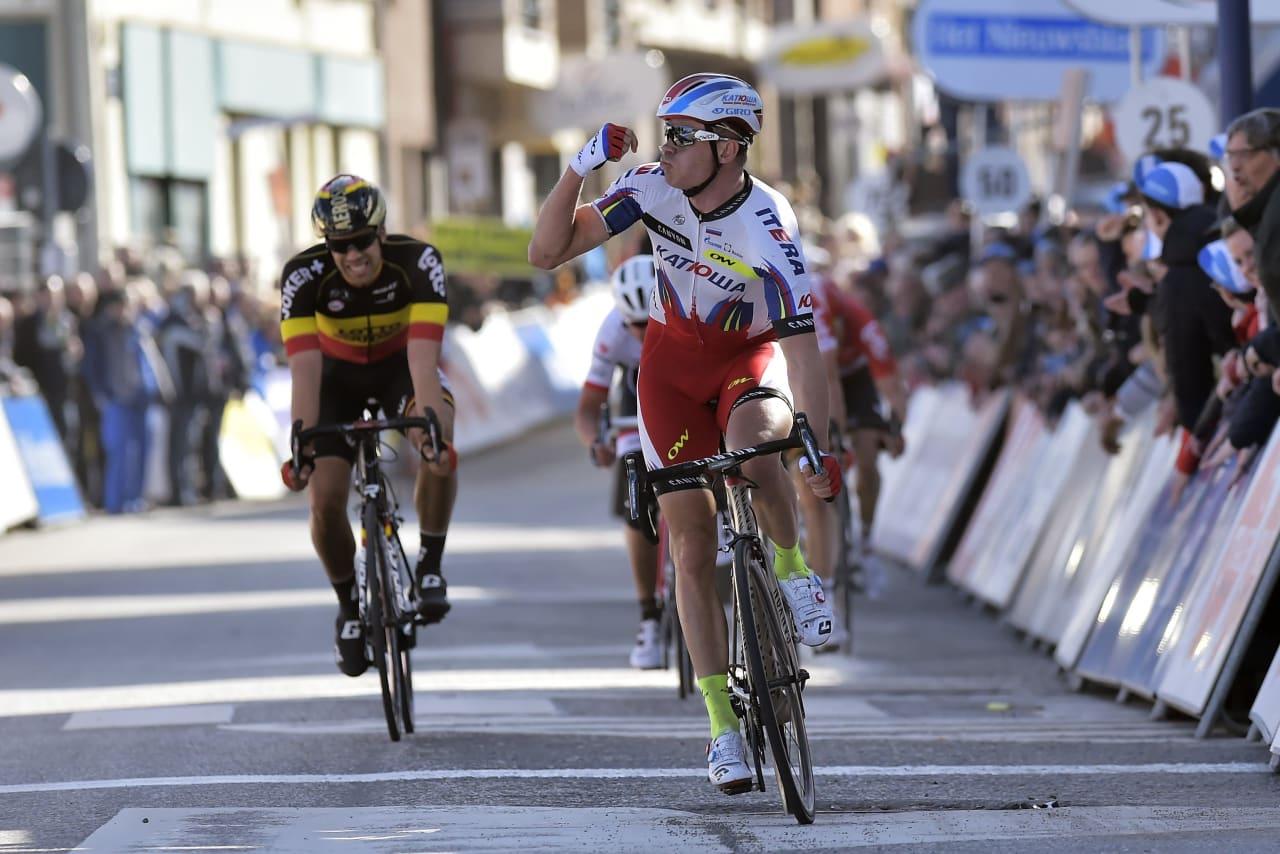 OVERLEGEN: Alexander Kristoff vant også den andre etappen av De Panne. Foto: Cor Vos.