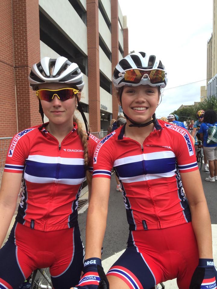 LOVENDE JENTER: Ingvild Gåskjenn (t.v.) og Susanne Andersen leverte en flott VM-fellesstart i juniorklassen.