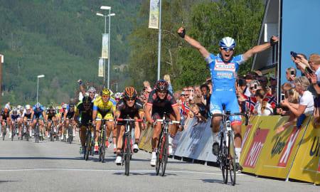 FREKKIS: Det ble en overraskende seier da Jérome-Baugnies klinket til på slutten av første etappe. Foto: Einar Oliver Landa.