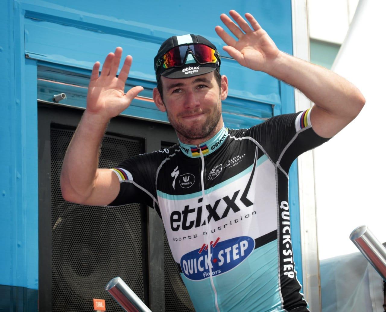 ENDELIG SATT DEN: Mark Cavendish har trøblet i starten av årets Tour, men kunne endelig juble for seier i dag. Foto: Cor Vos.