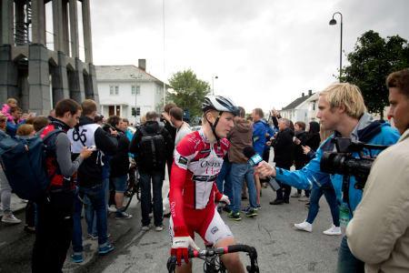 HJEMMEFAVORITT: August Jensen er fra Bodø, og fikk æren av å sykle mot verdenseliten på hjemmebane.