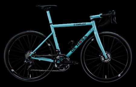 ITALIENSK STÅL: De Rosa er et av få merker som fortsatt lager sykler i stål, i Italia. Her modellen Corum Disc.