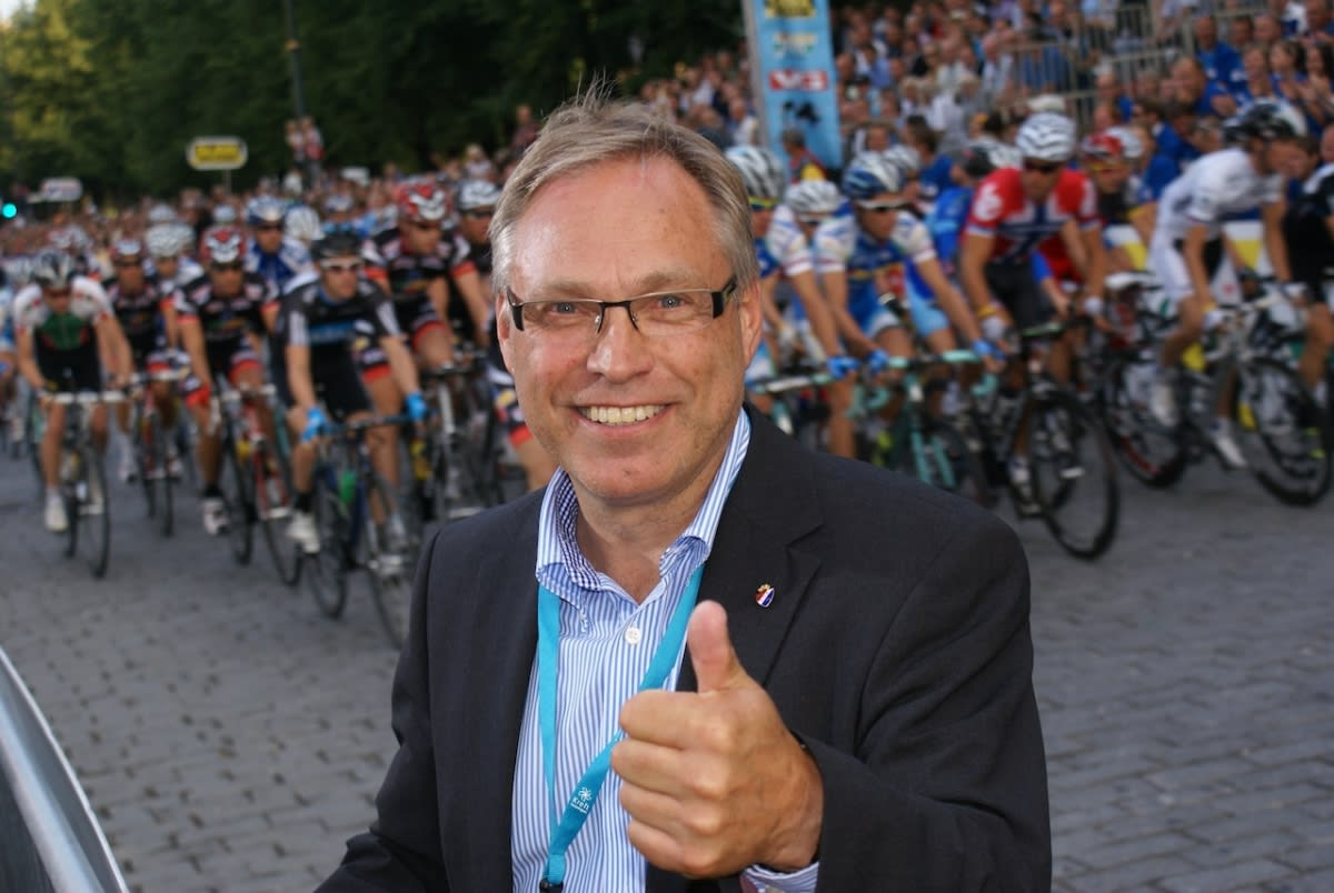 VEMODIG: President i Norges Cykleforbund, Harald Tiedeman Hansen, synes det er vemodig at Hushovd legger opp. Foto: Henrik Alpers