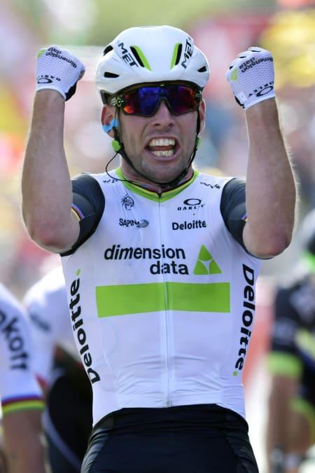 MISSILEN: Mark Cavendish tok sin tredje etappeseier så langt i Tour de France. Foto: Cor Vos
