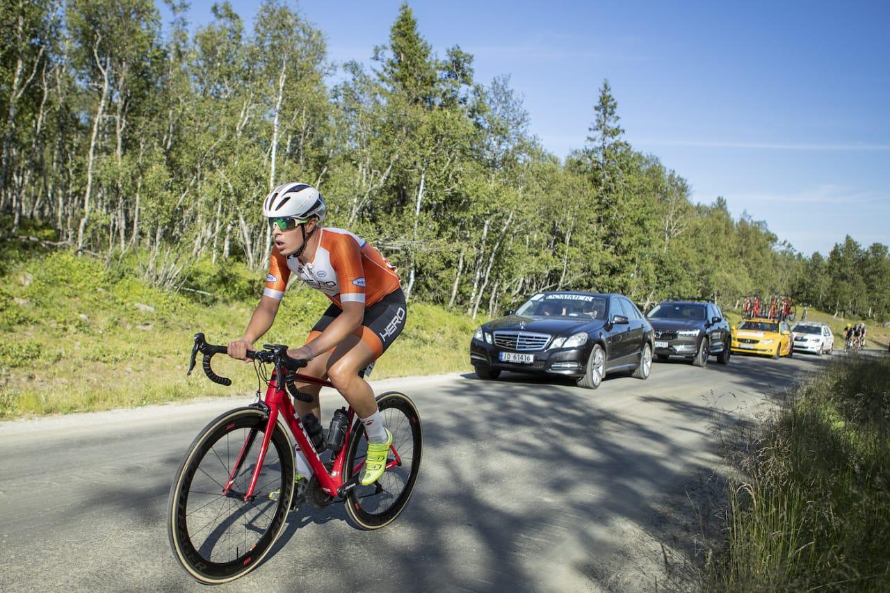 REKORDSUGEN: Jonas Orset vil ta tilbake rekorden på 10 000 høydemeter, og forsøker seg under 11:36:58 på lørdag. Foto: Pål Westgaard
