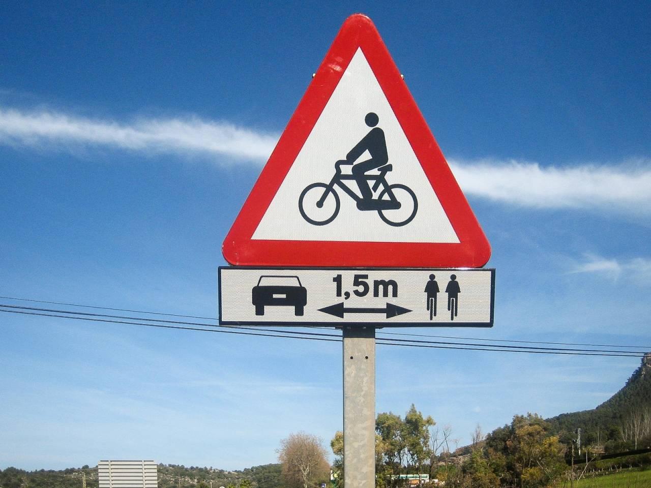 passering syklister