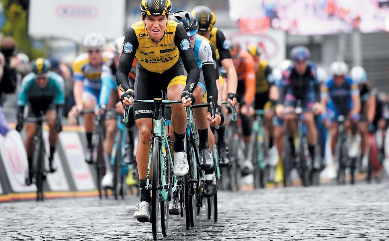 Amund Grøndahl Jansen gjør grovjobben i front. Det blir mer av det samme i årets Tour de France. Foto: Cor Vos