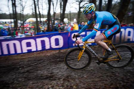 STERK: Thijs Aerts fra Belgia ble til slutt juniorverdensmester.