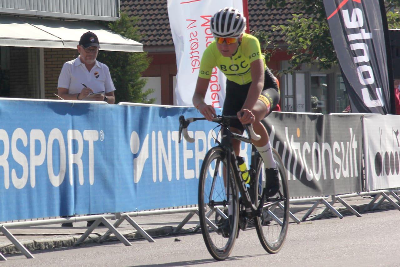 ENDELIG: Etter tre dager på andreplass tok Thale Kielland Bjerk seieren på finalen i Uno-X Tour de Hallingdal. Foto: Ingeborg Scheve