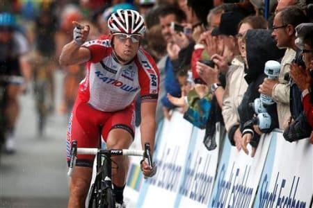 DEN STERKESTE: Det var ingen bombe at Alexander Kristoff skulle vinne den første etappen av Tour of Norway. Foto: Cor Vos