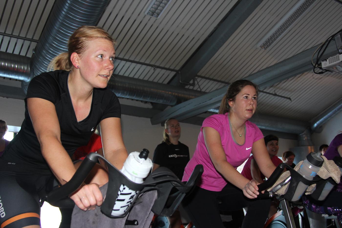 INNSATS: Ladies Edition first workout var fulltegnet i lang tid før helgas samling, og innsatsen var upåklagelig. Foto: Ingeborg Scheve
