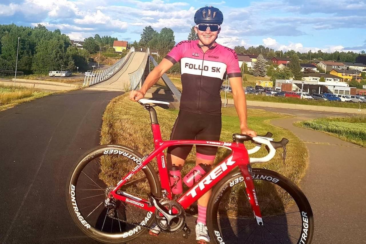 UTFORDRER: Fredrik Lorentzen Henne fra Follo SK Elite ble nummer tre på fellesstarten i Styrkeprøven i fjor. Foto: Privat