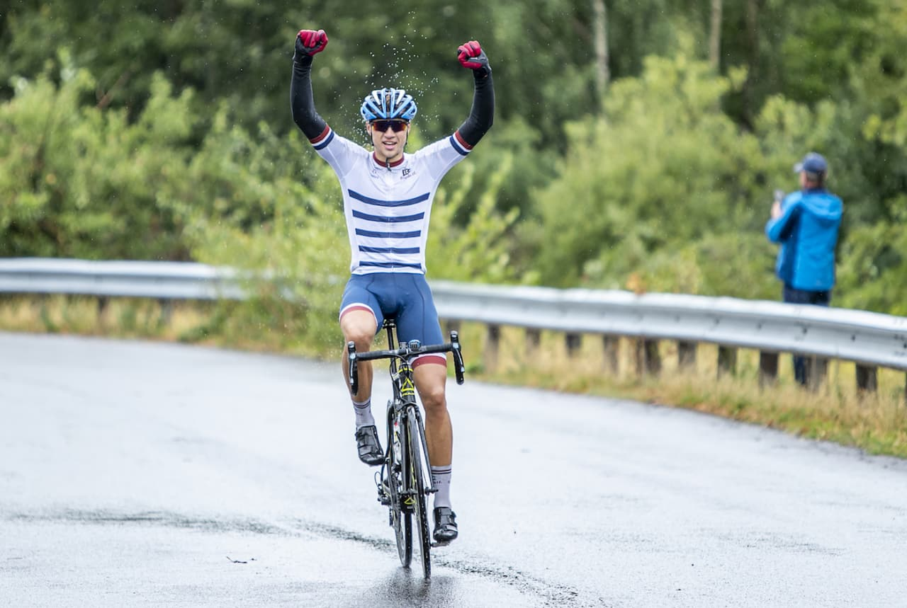 PLAN C: Christian Berge Foyn fra Bygdø IL vant turrittet Øyeren Rundt på søndag. Foto: Pål Westgaard