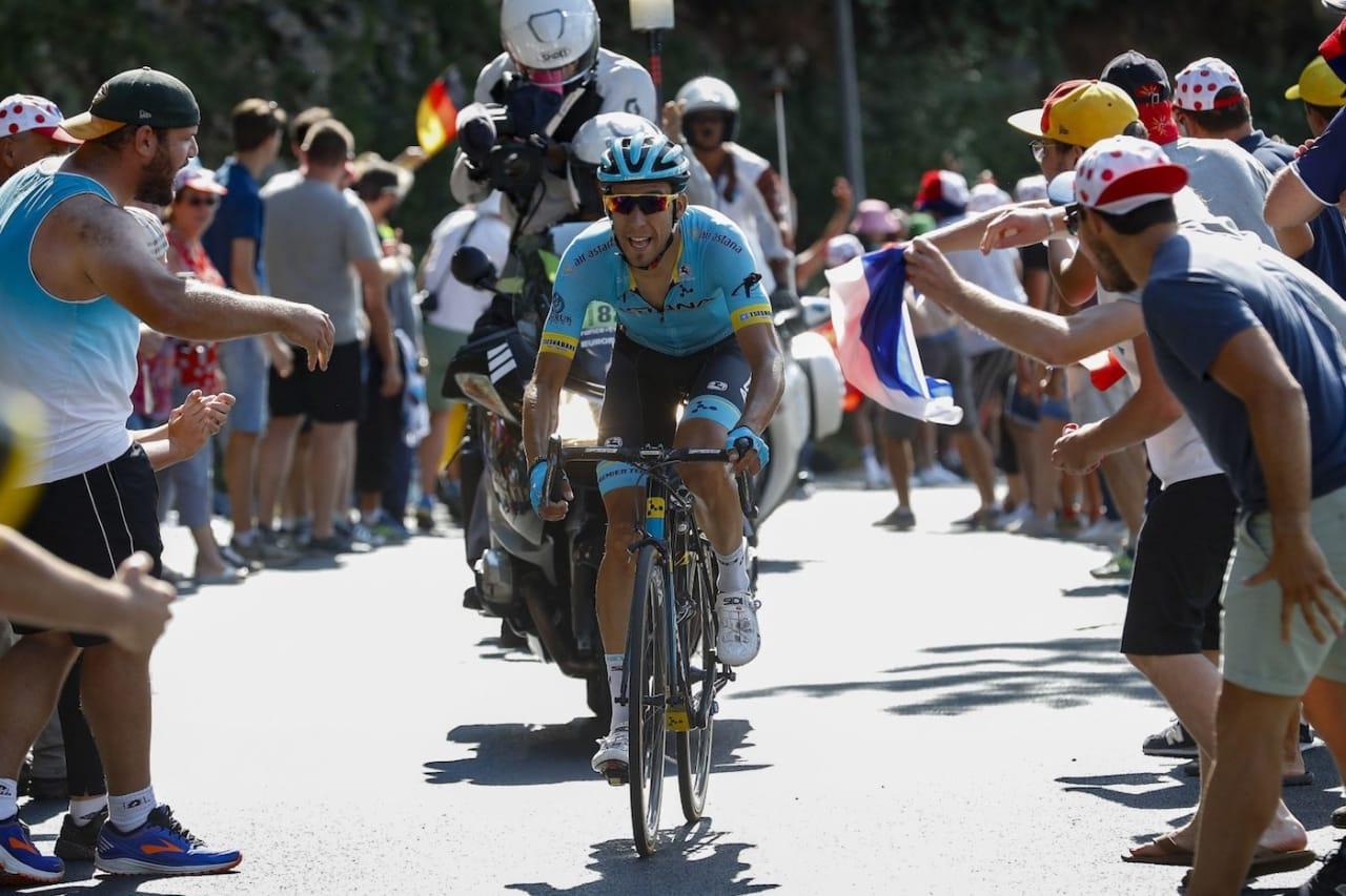 LYKKE: Omar Fraile tok sin første etappeseier i Tour de France. Foto: Cor Vos