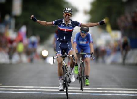 OVERBEVISTE: Kevin Ledanois var råsterk og ble til slutt kronet som U23-verdensmester. Foto: Cor Vos