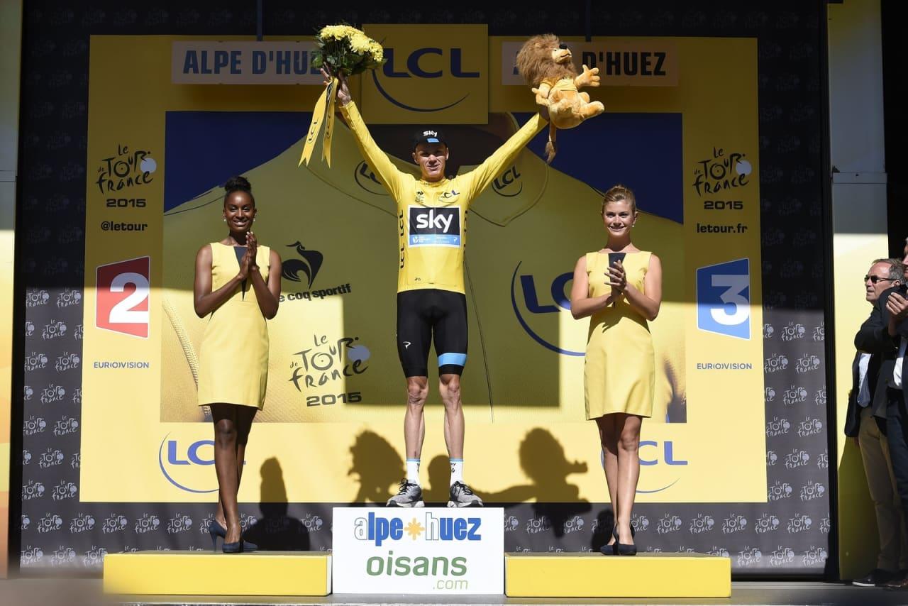 ALT SOM NORMALT: Da var Chris Froome tilbake i gul trøye. Holder han den helt til Paris? Foto: Cor Vos.