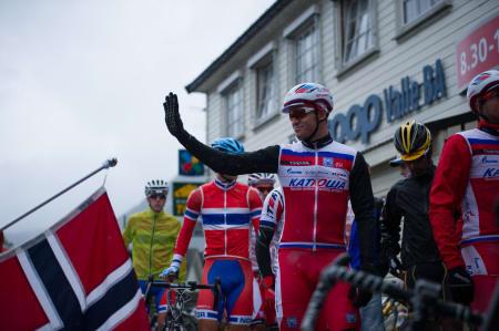 KLAR TIL START: Etter sykdom under Arctic Tour of Norway var Alexander Kristoff igjen klar til start.