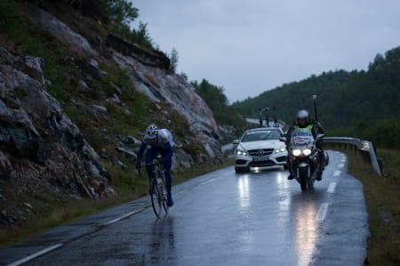 OFFENSIV: Kennet Van Bilsen stakk tidlig på dagens etappe.