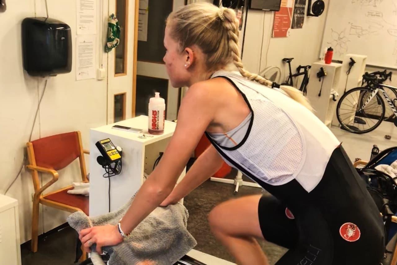 GOD VENN: Thale Kielland Bjerk trives godt på rulla, og legger et solid grunnlag for sin første seniorsesong på den.