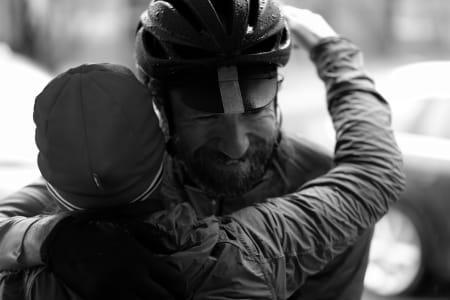 NEDKJØLT: Arne Moen holdt humøret oppe og kroppstemperaturen nede. Foto: Pål Laukli