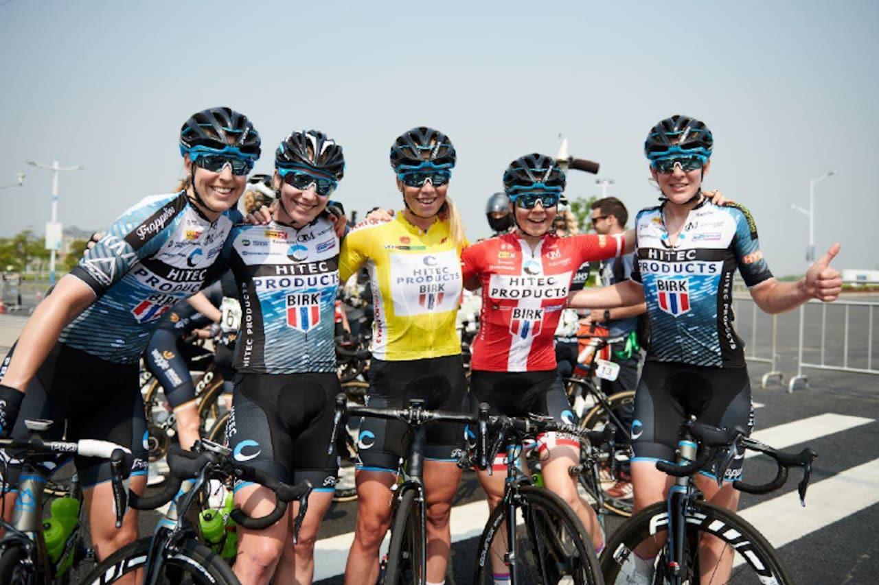 NEDLEGGINGSTRUET: Hitec-laget som vant 'Tour of Chongming Island' står nå i fare for å ikke kunne fullføre sesongen om ikke laget får nye sponsorer. Foto: Hitec Products
