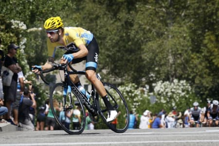 INGEN TOUR: Wiggins, her under Tour of California i mai, får ikke hjelpe Chris Froome i jakten på gult i juli. Foto: Cor Vos