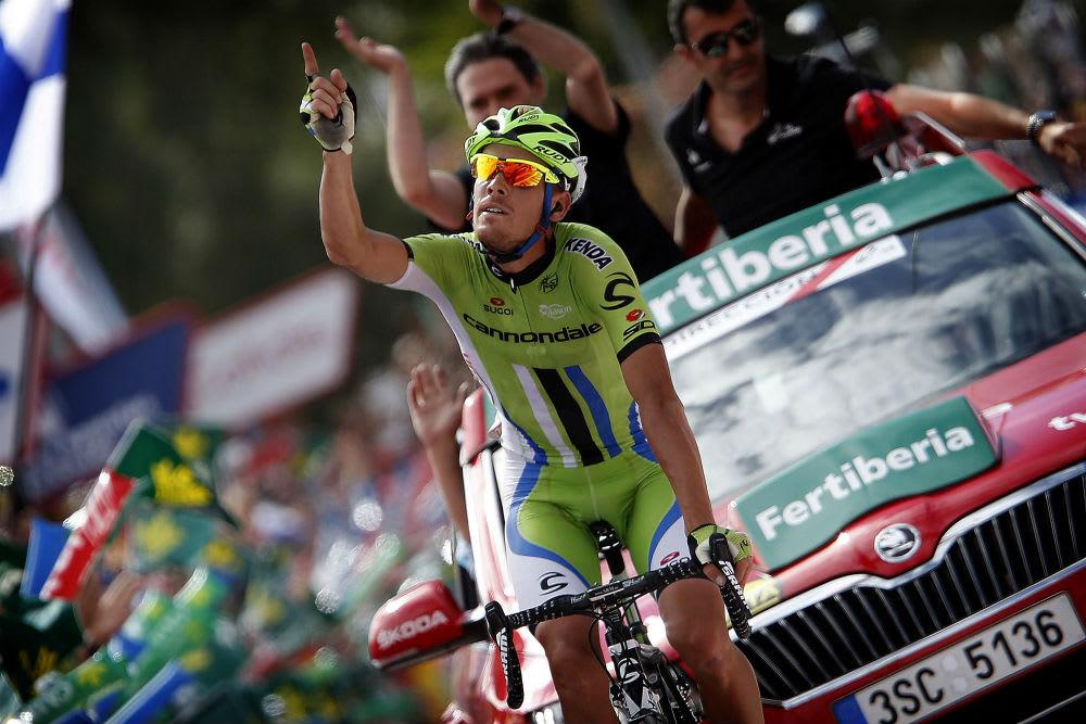 I ÅR SOM I FJOR: Alessandro de Marchi (BMC) tok sin andre etappeseier i Vuelta a España. Den første kom i fjor. Foto: Cor Vos