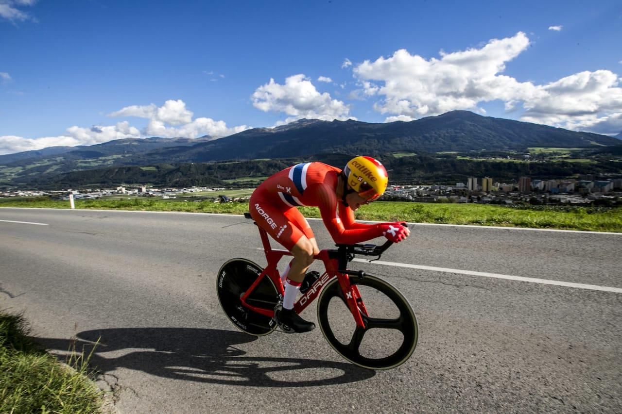 BESTE NORSKE: Søren Wærenskjold ble beste norske på tempo med femteplass i juniorklassen i dag. Foto: Jan Hetfleisch
