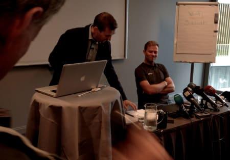 LETTET: En tydelig lettet Thor Hushovd forteller om det som skal bli de siste 14 ukene av sin karriere. Foto: Henrik Alpers.