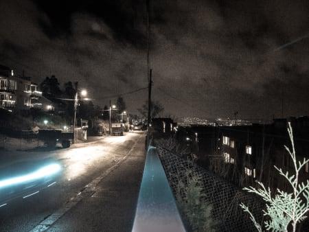 UTSIKT: Fra Grefsen tittet lysene fra storbyen frem.