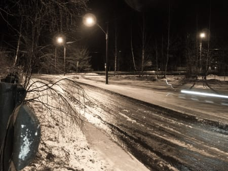 SLØSJ: Innerst i Sørkedalen var det noe så infernalsk kaldt og vått.