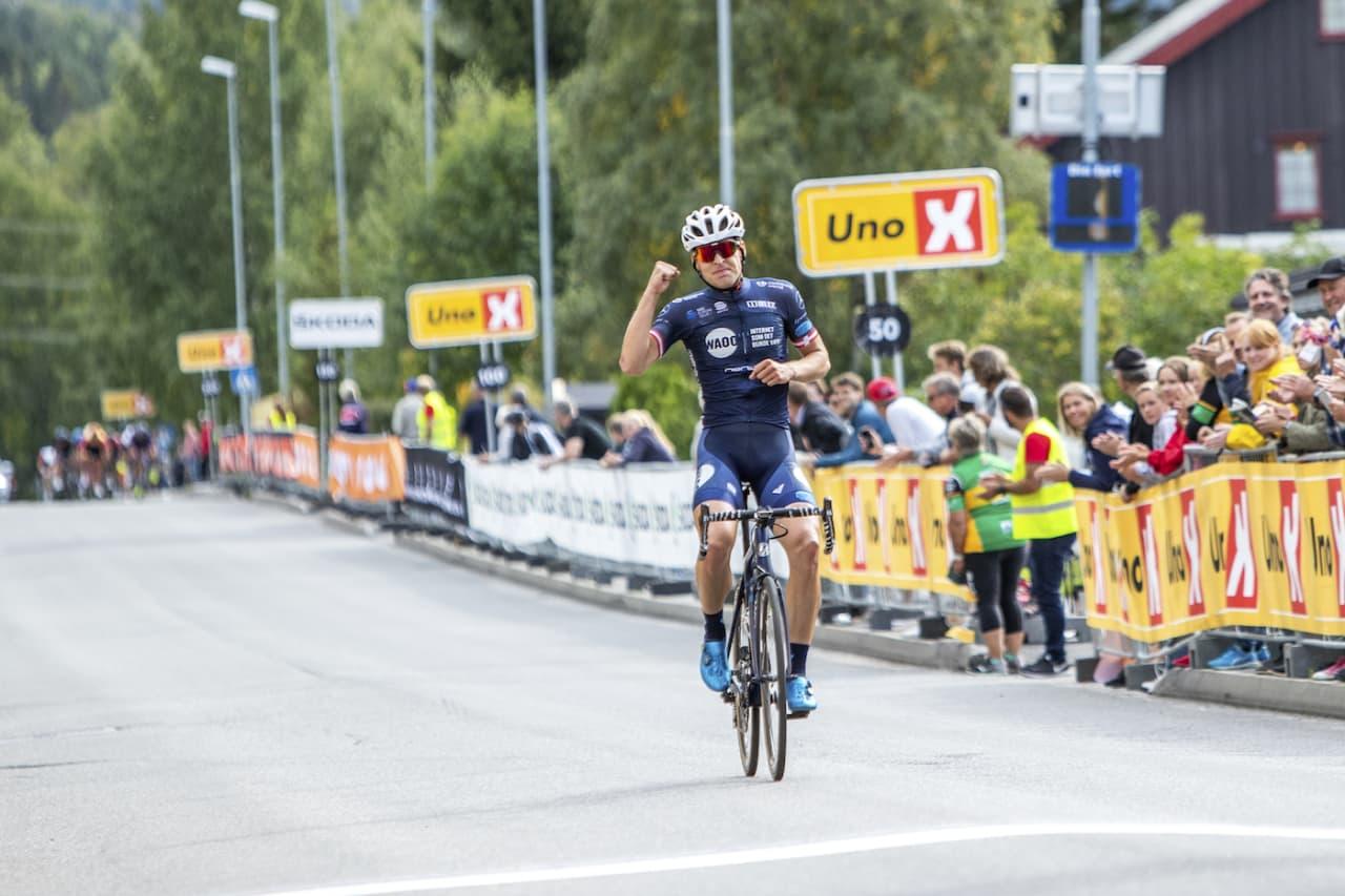 OVERLEGEN: Alexander Kamp (Team Waoo) vant Lillehammer Grand Prix med solid margin. Foto: Pål Westgaard
