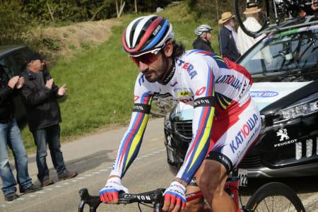 FERSKET IGJEN: En ny test av en prøve fra 2012 førte til at Giampaolo Caruso ble dopingtatt for andre gang i karrièren. Foto: Cor Vos.