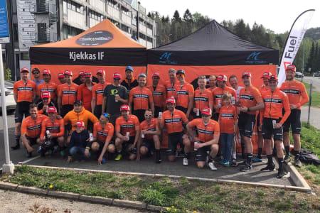 KNUSTE KONKURRENTENE: Team Kjekkas tok sin fjerde strake seier på Enebakk Rundt. Foto: Team Kjekkas