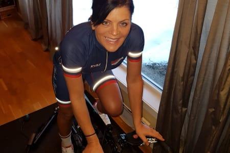 RULLEGLEDE: Siri Hildonen trives på rulla. Foto: Erik Skoglund Nilsen