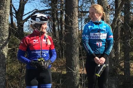 UKLART: Ingvild Gåskjenn fra Hitec Products Birk Sport vant dameklassen i Ronde van Berg, men bak henne hersket det en stund tvil om hvem som var først. Foto: Nanset IF