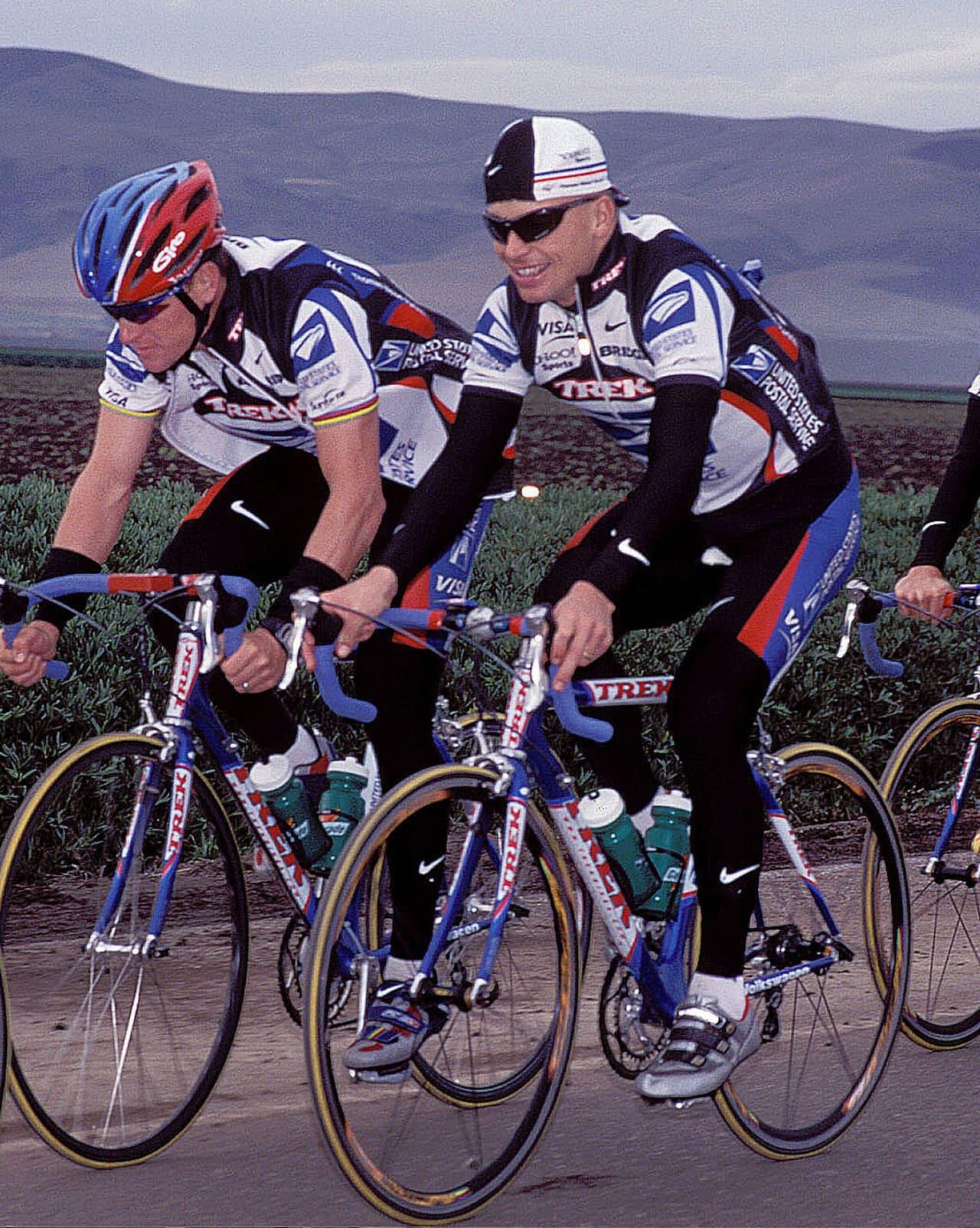 INGEN SMÅGUTT: Steffen Kjærgaard på treningsleir i California i år 2000. Foto: Håvard Solerød