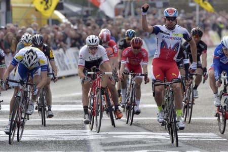 KONG KRISTOFF: Alexander Kristoff klarer ikke å la være å vinne på belgisk asfalt. Foto: Cor Vos.