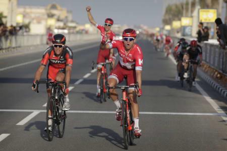 SEIERSMASKIN: Alexander Kristoff gjorde som i Qatar og spurtslo konkurrentene. Foto: Cor Vos.
