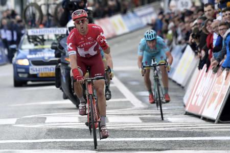 TILBAKE I FORM: Alexander Kristoff leverte en råsterk seier på første etappe av Driedaagse De Panne-Koksijde. Foto: Cor Vos.