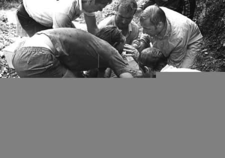 KNUST: Luis Ocaña veltet stygt og måtte bryte Tour de France i 1971. Foto: CORVOS.