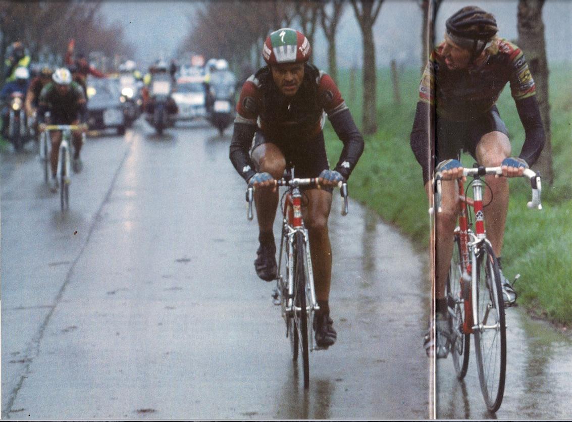 NESTEN FOR DO2: Bildet er tatt mot slutten av Flandern rundt 1989, like før Dag Otto taper rittet. Faksimilie fra nå nedlagte BC-Sport.